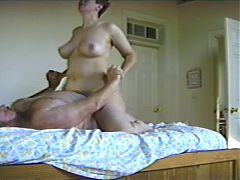 Big white mature tits riding^0:35