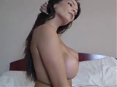 Hot Brunette Topless On Cam^6:32