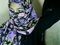 Hijab wearing girl fingers pussy^12:51