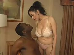 Busty Milf kicks Black Guy^0:30